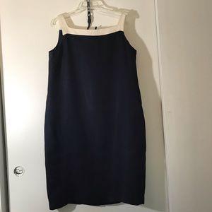 Talbots Square Neck Sheath Dress Size 18